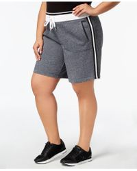 Calvin Klein - Performance Plus Size Ribbed-waistband Shorts - Lyst