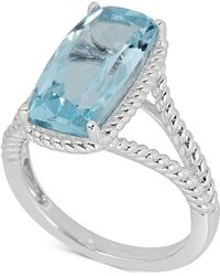 Macy's - Amethyst Rope Frame Statement Ring (4 Ct. T.w) In Sterling Silver (also In Mystic Quartz & Blue Topaz) - Lyst