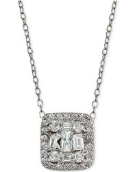 Giani Bernini | Cubic Zirconia Cluster Square Pendant Necklace | Lyst