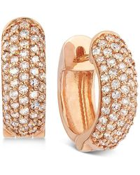 Effy Collection - Trio By Effy Pave Diamond Earrings In 14k Rose Gold (1/2 Ct. T.w.) - Lyst