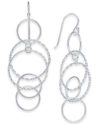 Giani Bernini - Multi-circle Drop Earrings In Sterling Silver, Created For Macy's - Lyst
