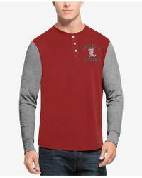 47 Brand - Men's Downfield Henley T-shirt - Lyst