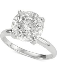 Macy's - Diamond Solitaire Engagement Ring (5 Ct. T.w.) In 14k White Gold - Lyst