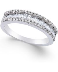 Macy's - Diamond Band Ring (5/8 Ct. T.w.) In 14k White Gold - Lyst