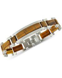Macy's - Tiger's Eye Bracelet In Stainless Steel - Lyst