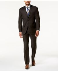 Marc New York - Modern-fit Stretch Brown Solid Suit - Lyst