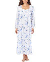 Eileen West Long Ballet Nightgown - Blue