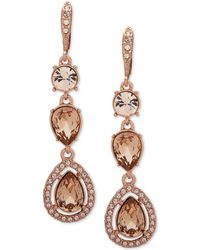 Givenchy - Stone & Crystal Halo Drop Earrings - Lyst
