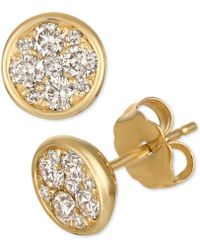 Le Vian - Strawberry & Nudetm Diamond Cluster Stud Earrings (1/2 Ct. T.w.) - Lyst