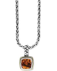 Effy Collection - Citrine (4 Ct. T.w.) Pendant Necklace In 18k Gold And Sterling Silver - Lyst