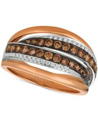 Le Vian - Chocolatier® Diamond Ring (7/8 Ct. T.w.) In 14k Rose Gold & White Gold - Lyst