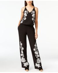 INC International Concepts - Floral-appliqué Jumpsuit - Lyst