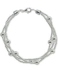 Giani Bernini - Beaded Multi-layer Bracelet In Sterling Silver, Created For Macy's - Lyst