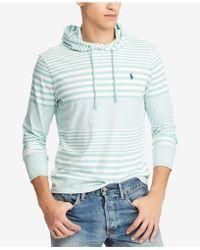 Polo Ralph Lauren - Striped Hooded T-shirt - Lyst