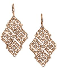 Lonna & Lilly - Gold-tone Crystal Openwork Chandelier Earrings - Lyst