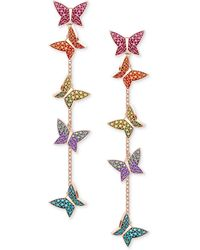 Swarovski - Lilia Rose Gold-tone Plated Mixed-metal Multi-colored Earrings - Lyst