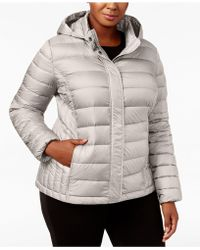 32 Degrees - Plus Size Packable Puffer Coat - Lyst