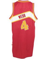 c512b85b1e4 adidas - Men s Spud Webb Atlanta Hawks Retired Player Swingman Jersey - Lyst