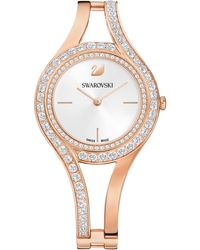 Swarovski - Swiss Eternal Crystal Rose Gold-tone Stainless Steel Bracelet Watch 30mm - Lyst