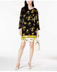 Alfani - Petite Mixed-print Shift Dress, Created For Macy's - Lyst