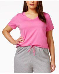 Hue - Plus Size V-neck Pyjama Top - Lyst