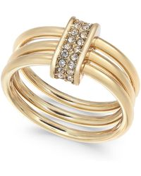 Alfani - Gold-tone Crystal Accent Multi-hoop Statement Ring, Created For Macy's - Lyst