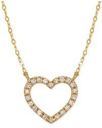 Macy's - Diamond Butterfly Pendant Necklace (1/10 Ct. T.w.) In 10k Gold - Lyst