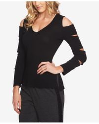 1.STATE - Cutout V-neck Top - Lyst