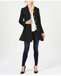 Laundry by Shelli Segal - Skirted Boucle Wool-blend Single-breasted Coat - Lyst