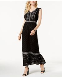Style & Co. - Embroidered Printed Maxi Dress, Created For Macy's - Lyst