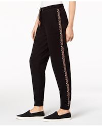 Style & Co. - Embroidered Knit Jogger Pants, Created For Macy's - Lyst