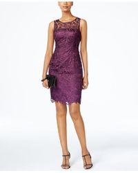 Adrianna Papell - Dress, Sleeveless Lace Sheath - Lyst