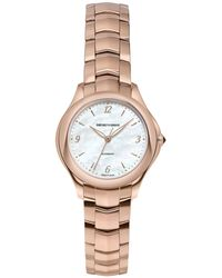 Emporio Armani - Women's Automatic Esedra Rose Gold-tone Stainless Steel Bracelet Watch 29mm - Lyst