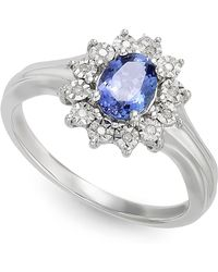 Macy's - Tanzanite (1/2 Ct. T.w.) And Diamond Accent Ring In 10k White Gold - Lyst