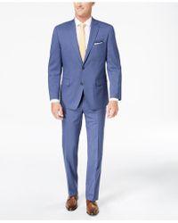 Michael Kors - Classic-fit Light Blue Pinstripe Suit - Lyst