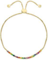 Effy Collection - Effy® Multi-gemstone (1 Ct. T.w.) Slider Bracelet In 14k Gold - Lyst
