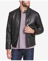 Marc New York - Men's Leather Moto Jacket - Lyst