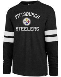 460f31276 47 Brand - Pittsburgh Steelers Scramble Long Sleeve Club T-shirt - Lyst