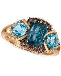 Le Vian - Blue Topaz (2-5/8 Ct. T.w.) And Diamond (1/5 Ct. T.w.) Ring In 14k Rose Gold - Lyst