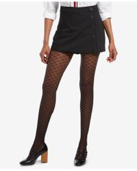 Hue - ® Faux Fishnet Printed Tights - Lyst