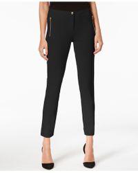 Calvin Klein - Skinny Crepe Pants - Lyst