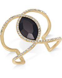 INC International Concepts | Gold-tone Pavé & Jet Stone Open Cuff Bracelet | Lyst