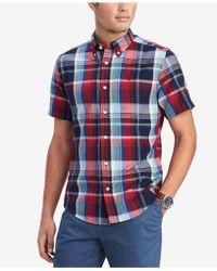 cdc413c800bd2 Lyst - Tommy Hilfiger Slim Fit Jullian Stripe Shirt in Blue for Men