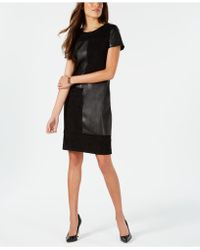 Ivanka Trump - Mixed-media Shift Dress - Lyst
