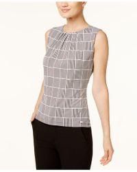 Calvin Klein - Shirred Shell - Lyst