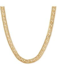 Macy's | Twisted Popcorn Link Collar Necklace In 10k Gold | Lyst