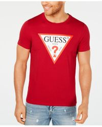 75c95a10 Guess Men's New Classic Graphic-print Logo T-shirt in White for Men ...