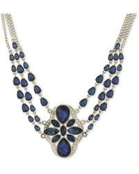 2028 - Silver-tone Multi-chain Stone Statement Necklace - Lyst