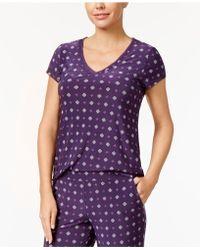 Alfani - Printed Chiffon-trim Pajama Top, Created For Macy's - Lyst