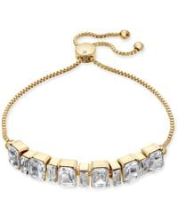 Charter Club - Gold-tone Crystal Slider Bracelet, Created For Macy's - Lyst